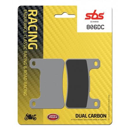 Plaquettes de frein moto Racing Carbone SBS 806DC